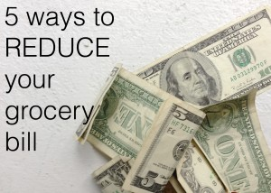 reduce grocery bill